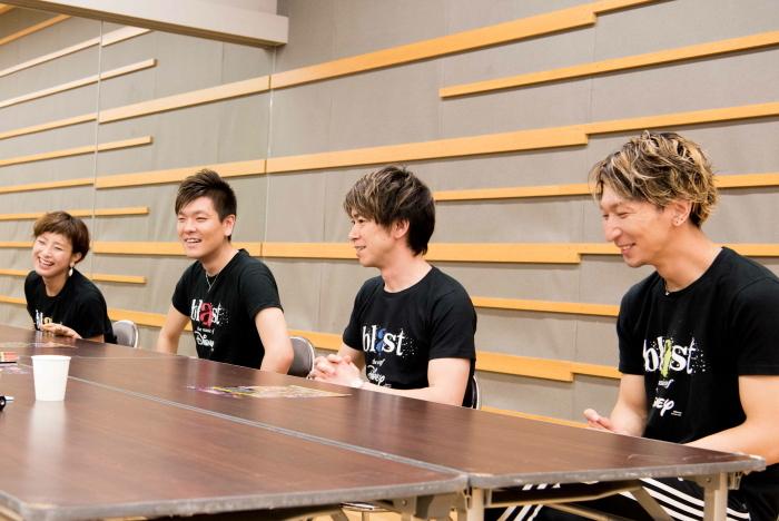 (左から)藤井麻由・米所裕夢・石川直・和田拓也