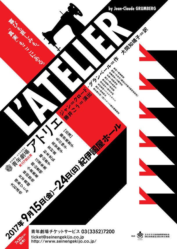 秋田雨雀・土方与志記念 青年劇場 第117回公演「アトリエ」チラシ