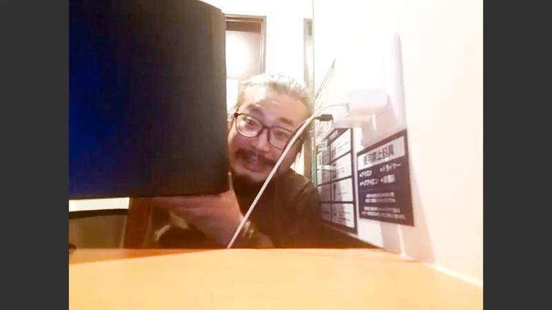 大谷皿屋敷(作・演出)とネットカフェのパソコン本体