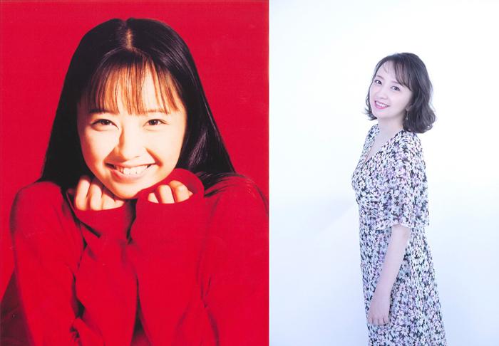高橋由美子(左=1990年/右=2020年)