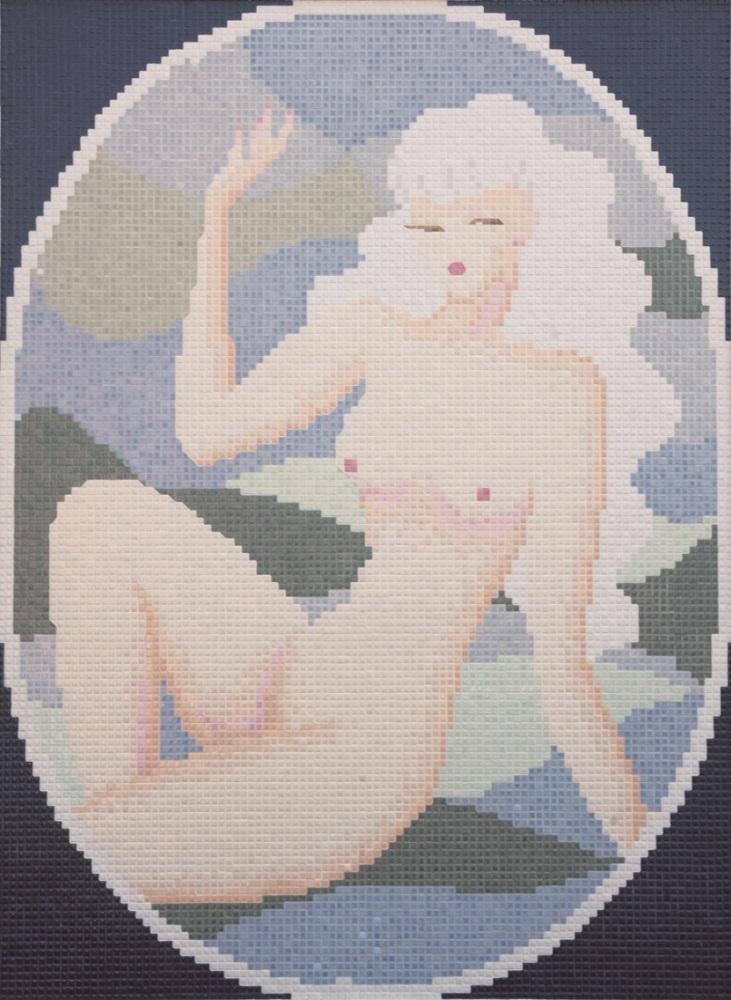 《裸婦》、1952年、モザイクタイル絵、164.0×121.0cm、INAX ライブミュージアム(PART OF LIXIL)