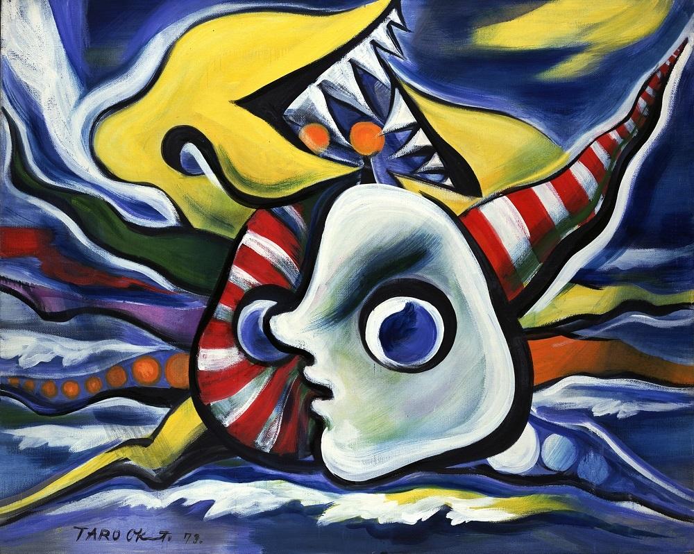 《 海辺の肖像》1973年、油彩・キャンバス