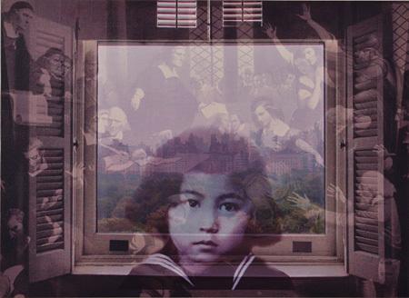 オノ・ヨーコ『FROM MY WINDOW: Salem 1692』2002年、顔料/カンヴァス、個人蔵 ©YOKO ONO 2015