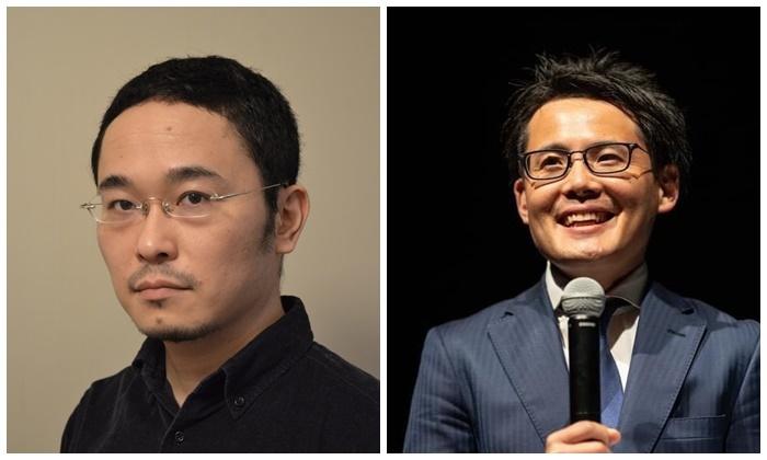 『フリー/アナウンサー』でタッグを組む、演出家・あごうさとし(左)と、アナウンサー・能政夕介(右)。