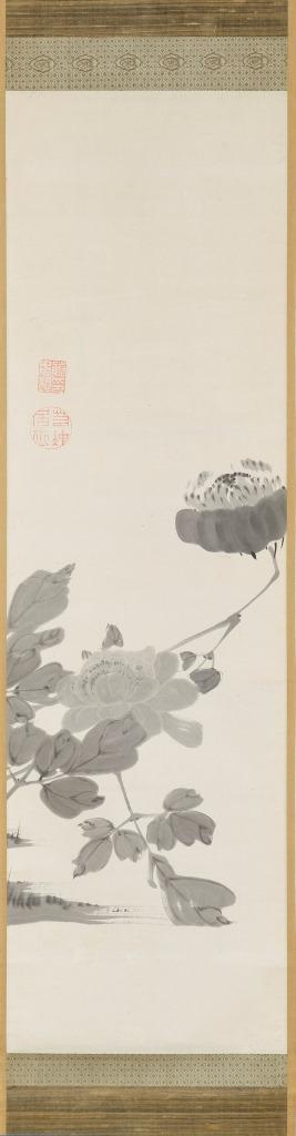 伊藤若冲《牡丹図》 江戸時代 東京黎明アートルーム