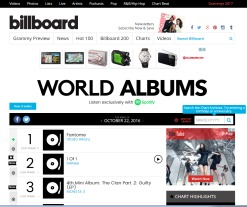 billboard World Album Chartより