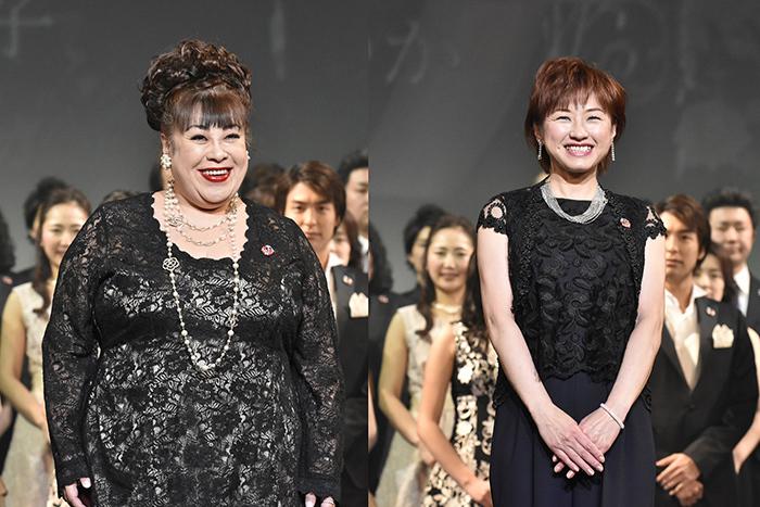 (左から)森公美子、鈴木ほのか(撮影:原地達浩)