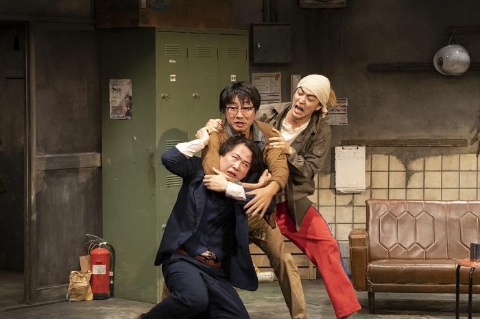 左から大鶴佐助、中山祐一朗、稲葉友(撮影:加藤孝)