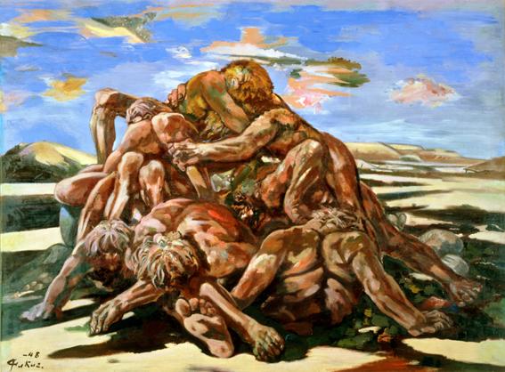 《敗戦群像》 1948年 群馬県立近代美術館蔵