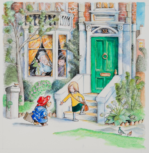 R.W.アリー画 絵本『クマのパディントン』の原画、2007 年  Illustrated by R.W. Alley Illustrations copyright (C) R.W. Alley 2018