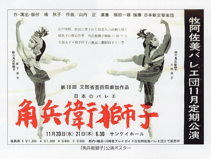 『角兵衛獅子』初演ポスター