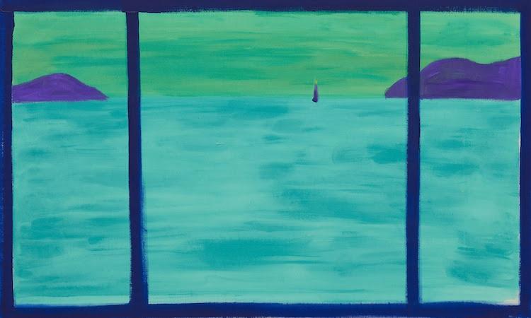瀬戸内の海、朝5時43分    sea of setouchi, am 5:43 2019 acrylic on canvas 57.5 x 93.5 cm (C)Ellie Omiya