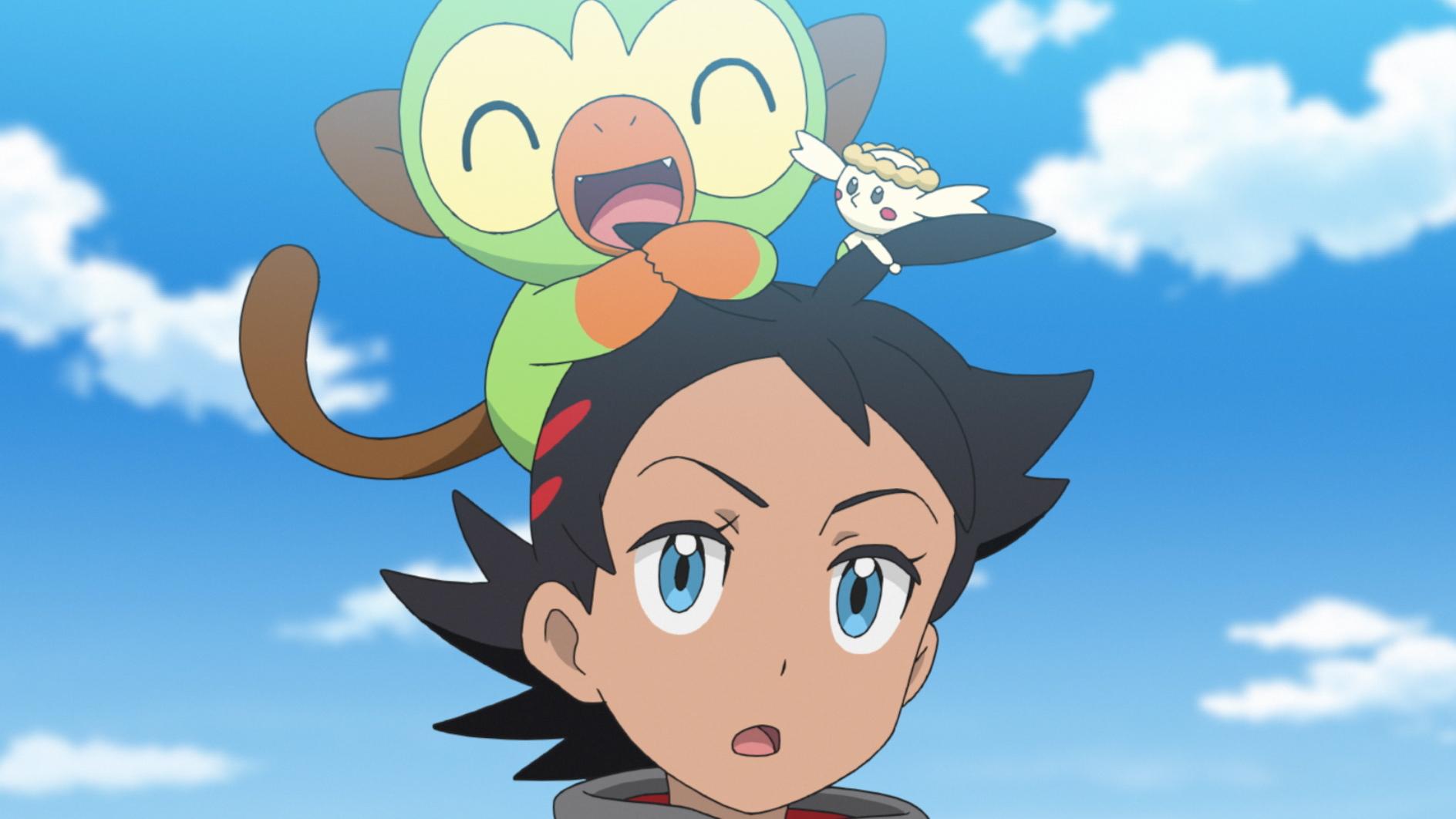 ゴウ&サルノリ、フラベベ (C) Nintendo・Creatures・GAME FREAK・TV Tokyo・ShoPro・JR Kikaku (C)  Pokémon