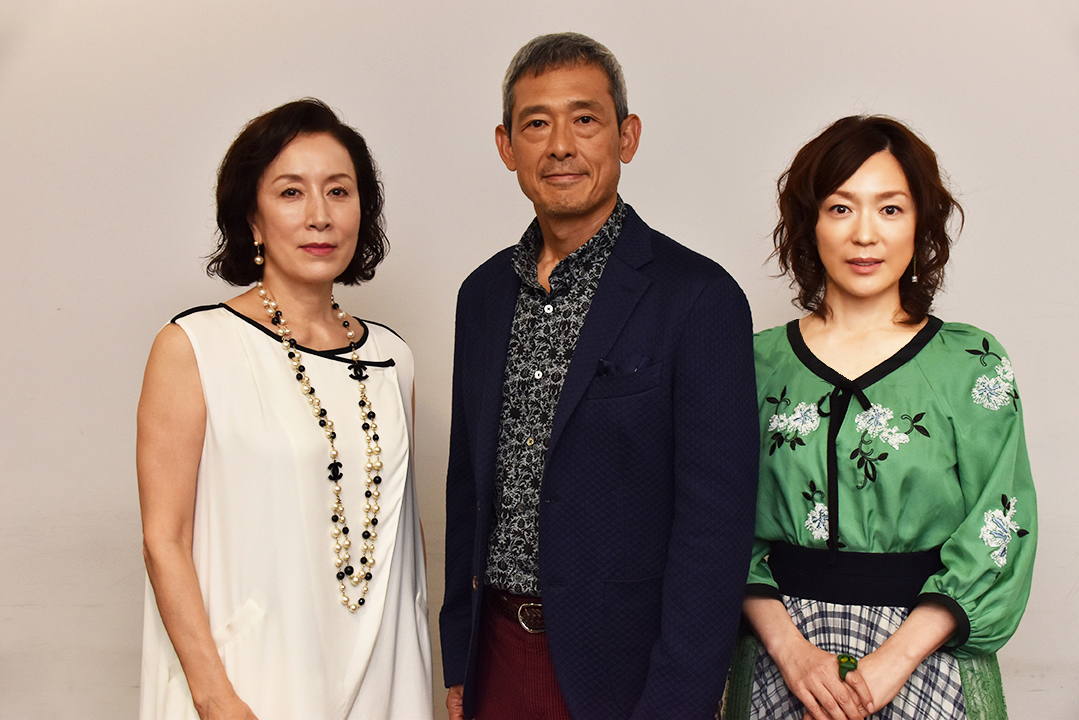 高畑淳子、鶴見辰吾、若村麻由美(左から)