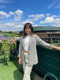 寿美菜子のコメント到着 WOWOWのウィンブルドン現地レポーターとして現地の雰囲気を伝える