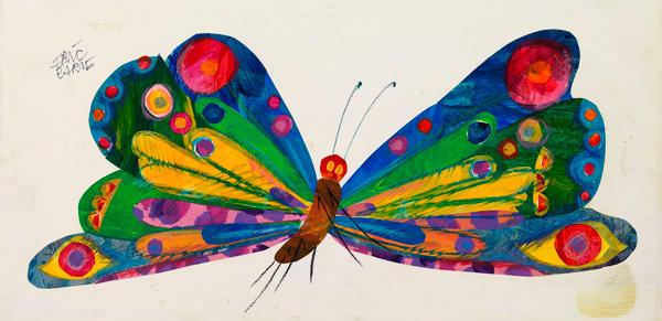 『はらぺこあおむし』関連作品原画、制作年不詳、エリック・カール絵本美術館  © Eric Carle