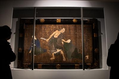 歌川国芳《一ツ家(絵馬)》顔料・板、一面 228.2×372.0cm  安政2年(1855)東京・金龍山浅草寺