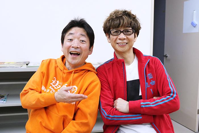(左)水島 裕 (右)山寺宏一