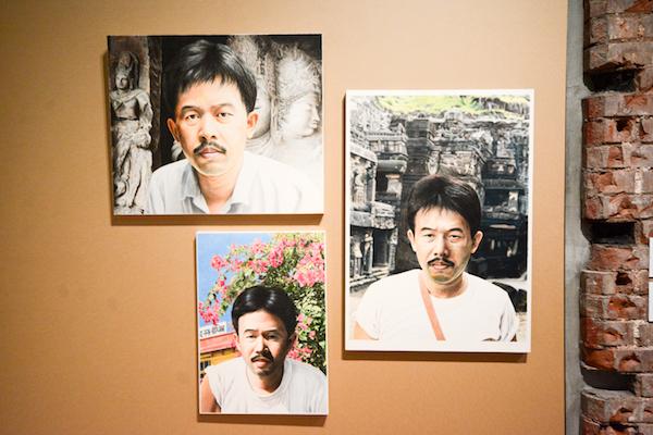 右《エローラの自画像》 左上《エレファンタの自画像》 左下《マトウラの自画像》 すべて1986年