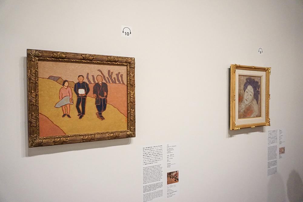 左手前から:《ヤキバノカエリ》 1956年 岐阜県美術館 《萬の像》 1950年 岐阜県美術館寄託