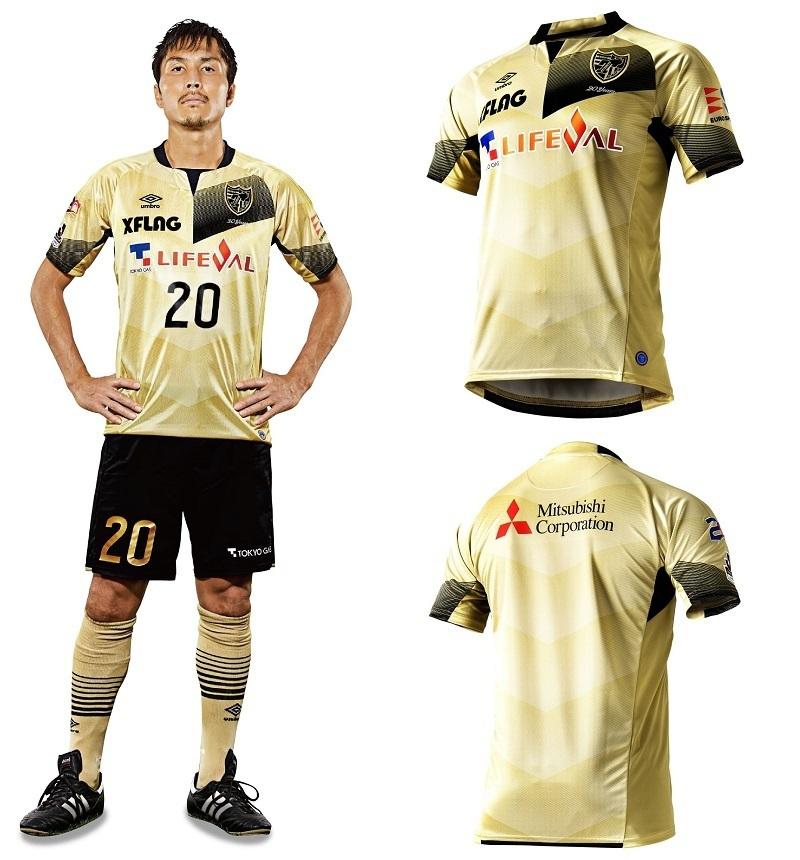 試合当日に選手が着用する「20周年記念ユニフォーム」