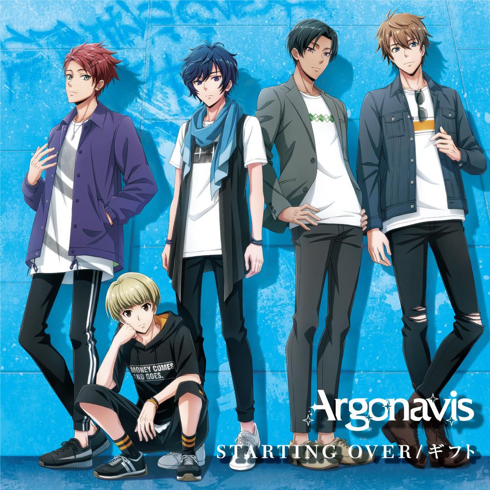 Argonavis 2nd Single「STARTING OVER/ギフト」Blu-ray付生産限定盤ジャケット (C)ARGONAVIS project. (C)BanG Dream! Project