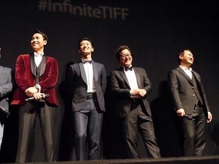 左から、チョン・ウソン、チュ・ジフン、クァク・ドウォン、チョン・マンシク