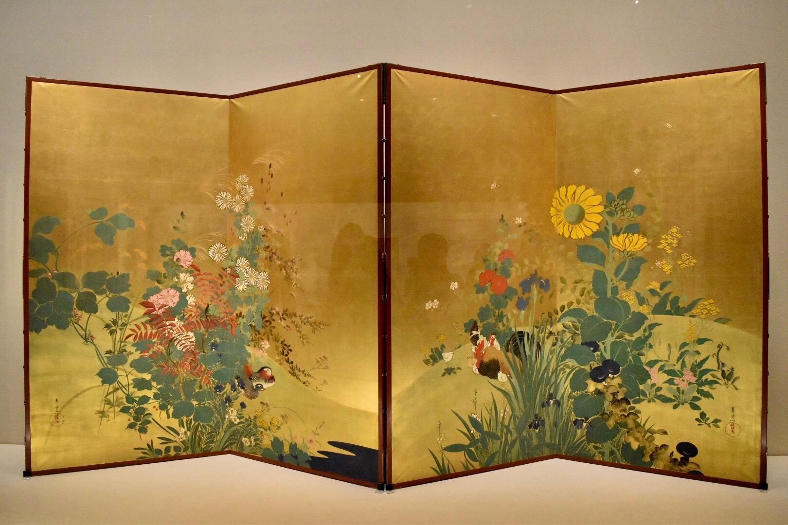鈴木其一 《四季花鳥図》 19世紀(江戸時代) 山種美術館蔵