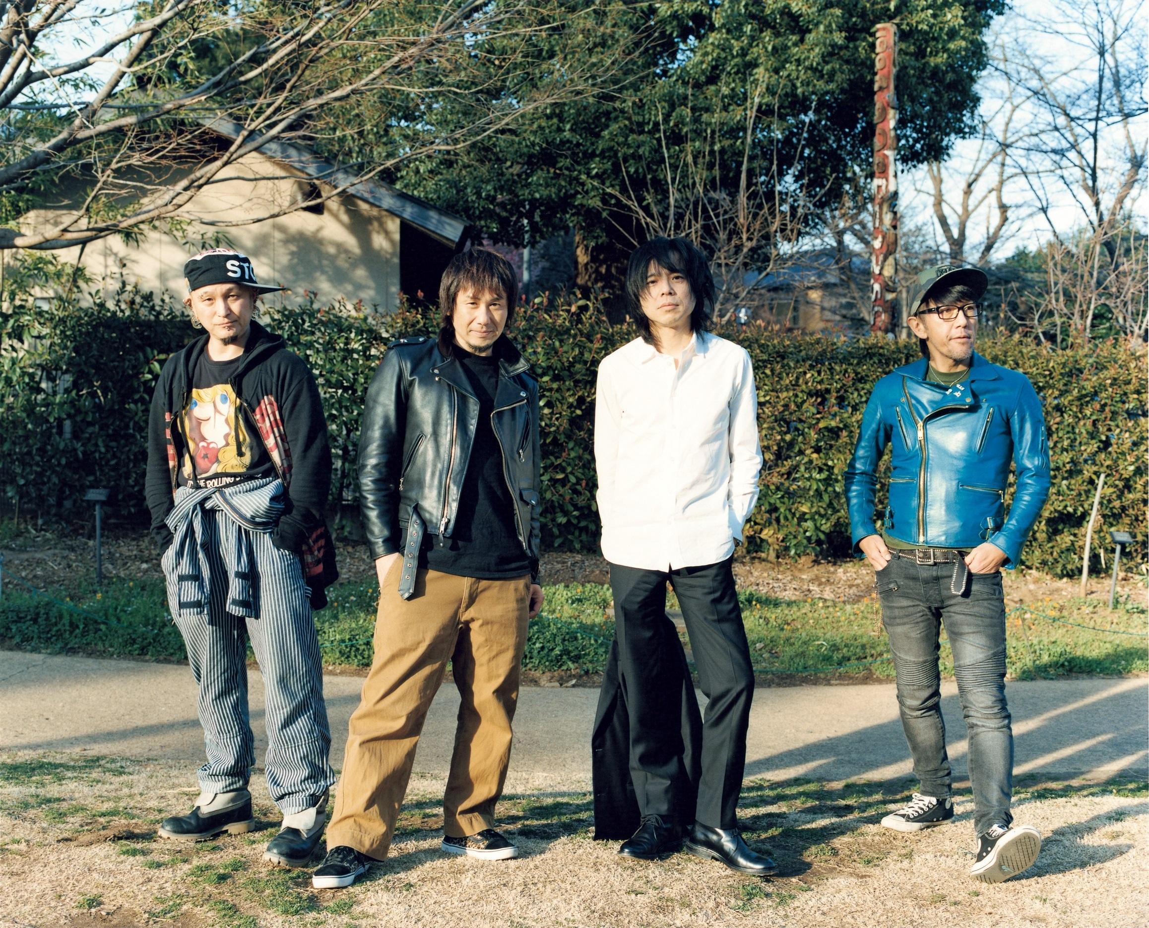 宮本浩次と横山健とJun GrayとJah-Rah photo by 佐内 正史