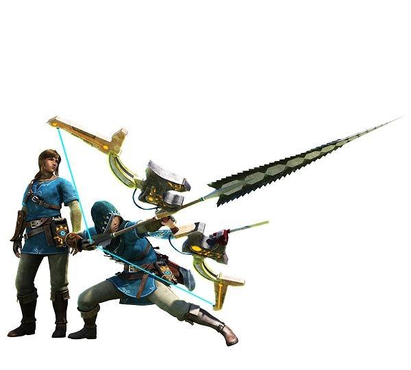 """左から""""ハイリアシリーズ""""・""""古代兵装・弓"""" (C)Nintendo"""