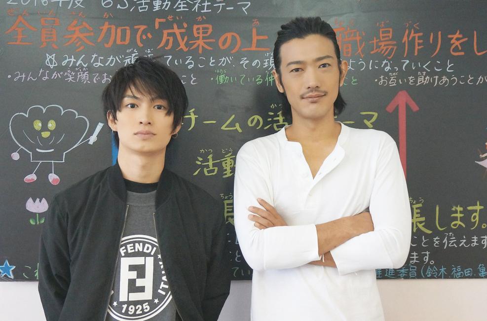 (左から)松田凌、谷口賢志