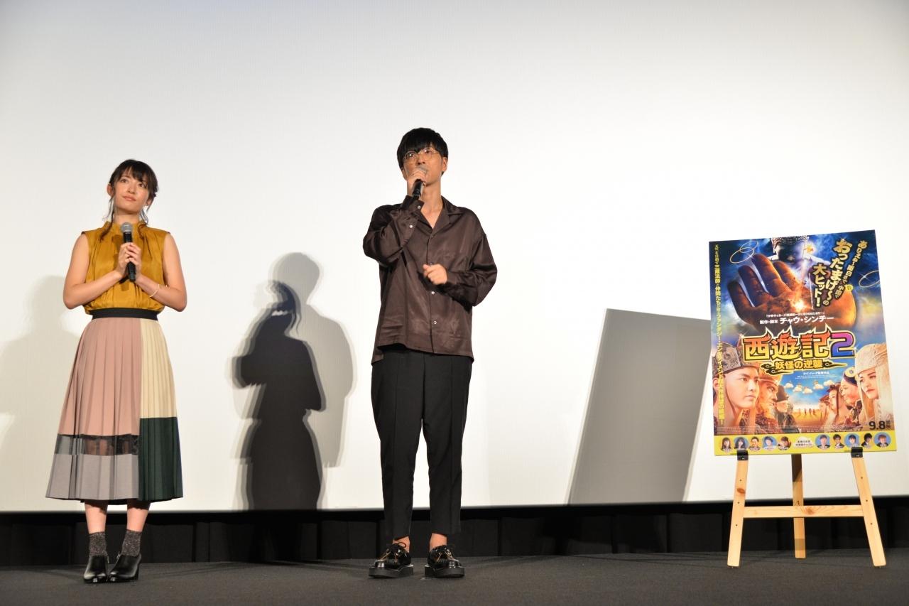 左から、小松未可子、櫻井孝宏