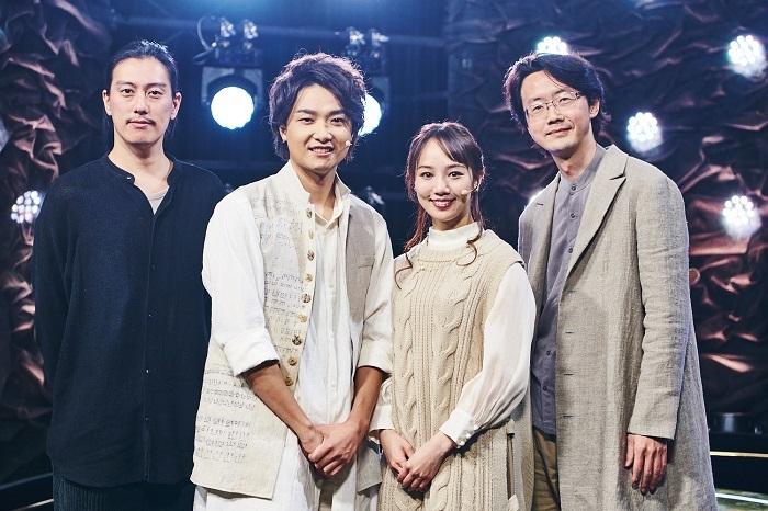 (左から)安倍康律、井上芳雄、咲妃みゆ、大貫祐一郎