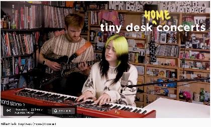 ビリー・アイリッシュ、『タイニー・デスク・コンサート』の映像をYouTubeプレミア公開へ