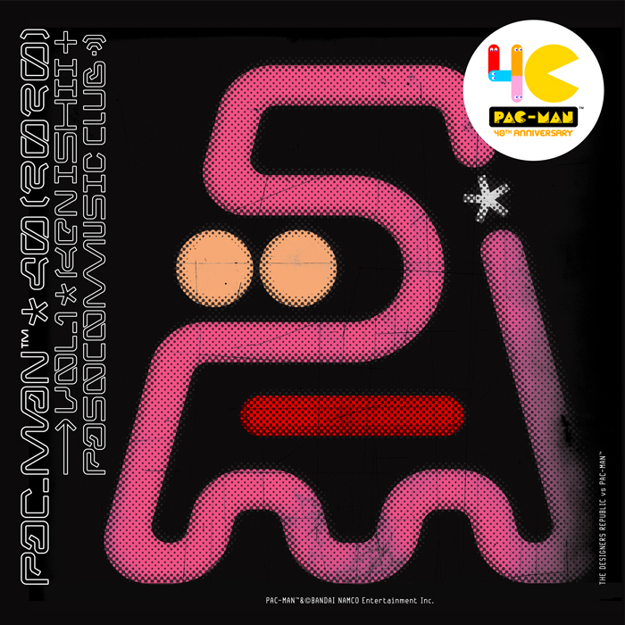 『PAC-MAN 40th ANNIVERSARY COLLABORATION vol.1』配信作ジャケット (C) U/M/A/A Inc. / PAC-MAN™&©BANDAI NAMCO Entertainment Inc.