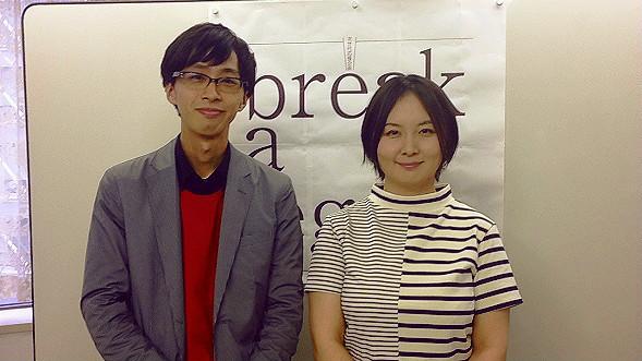 (左から)村上慎太郎(夕暮れ社 弱男ユニット)、瀬戸山美咲(ミナモザ) [撮影]吉永美和子