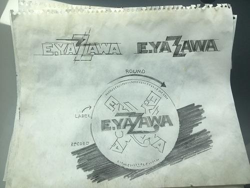 展示会『俺 矢沢永吉』横浜会場展示「E.YAZAWA」ロゴデザインラフイメージ