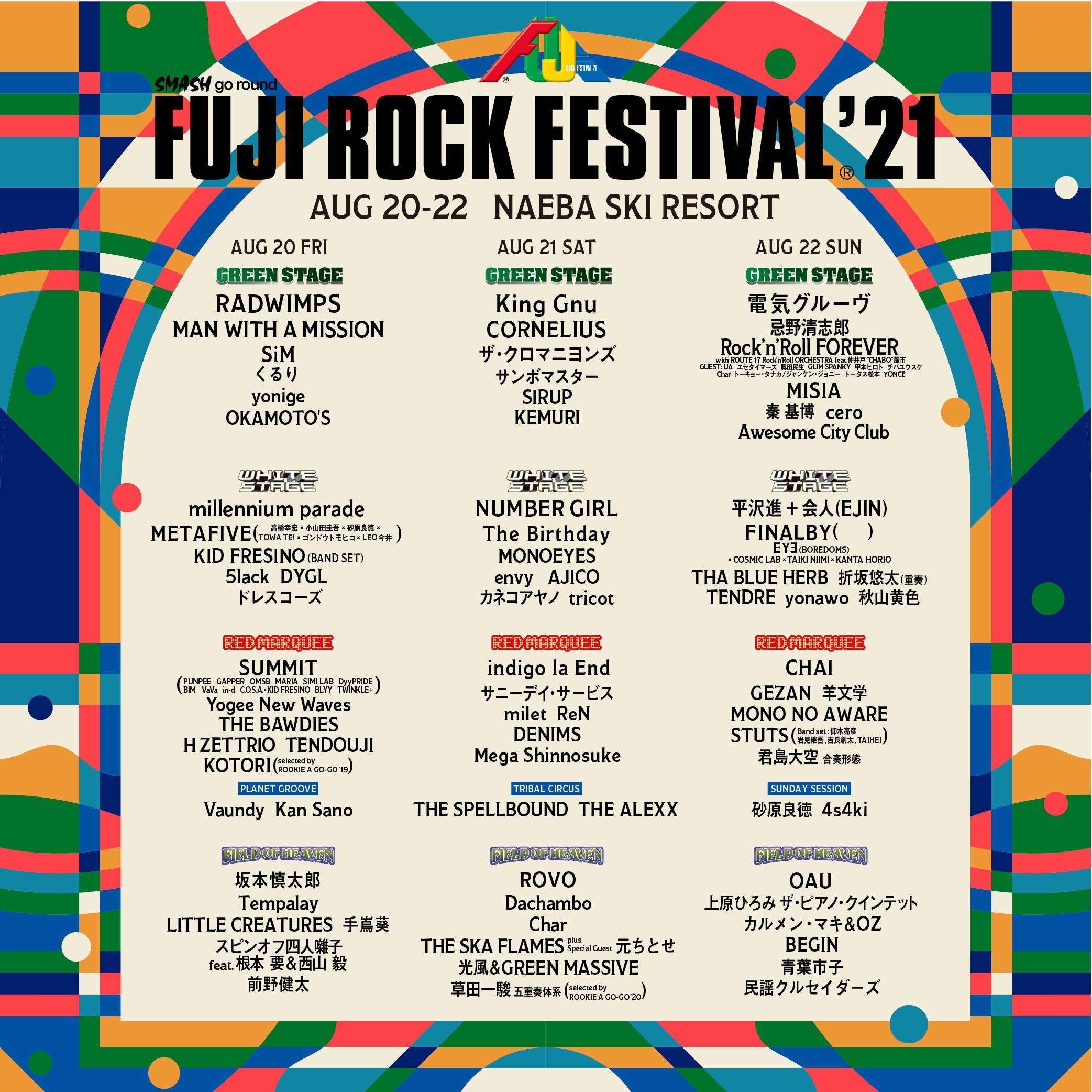 『FUJI ROCK FESTIVAL '21』