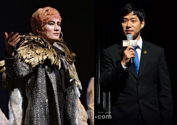 今年の新人賞ルイス・チョイ(左)と今年の俳優賞ユ・ジュンサン