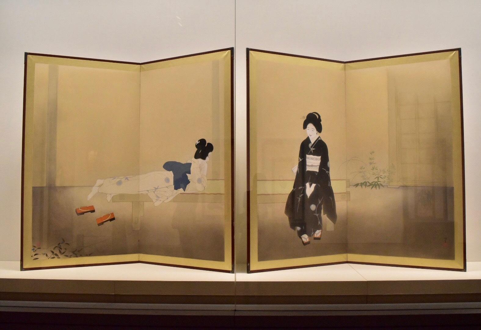 北野恒富 《いとさんこいさん》 昭和11年 京都市美術館蔵