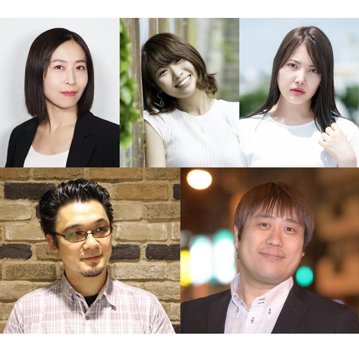(上段左から)嶋尾明奈、須澤真織、松井花音、(下段左から)池田レゴ、小島啓寿