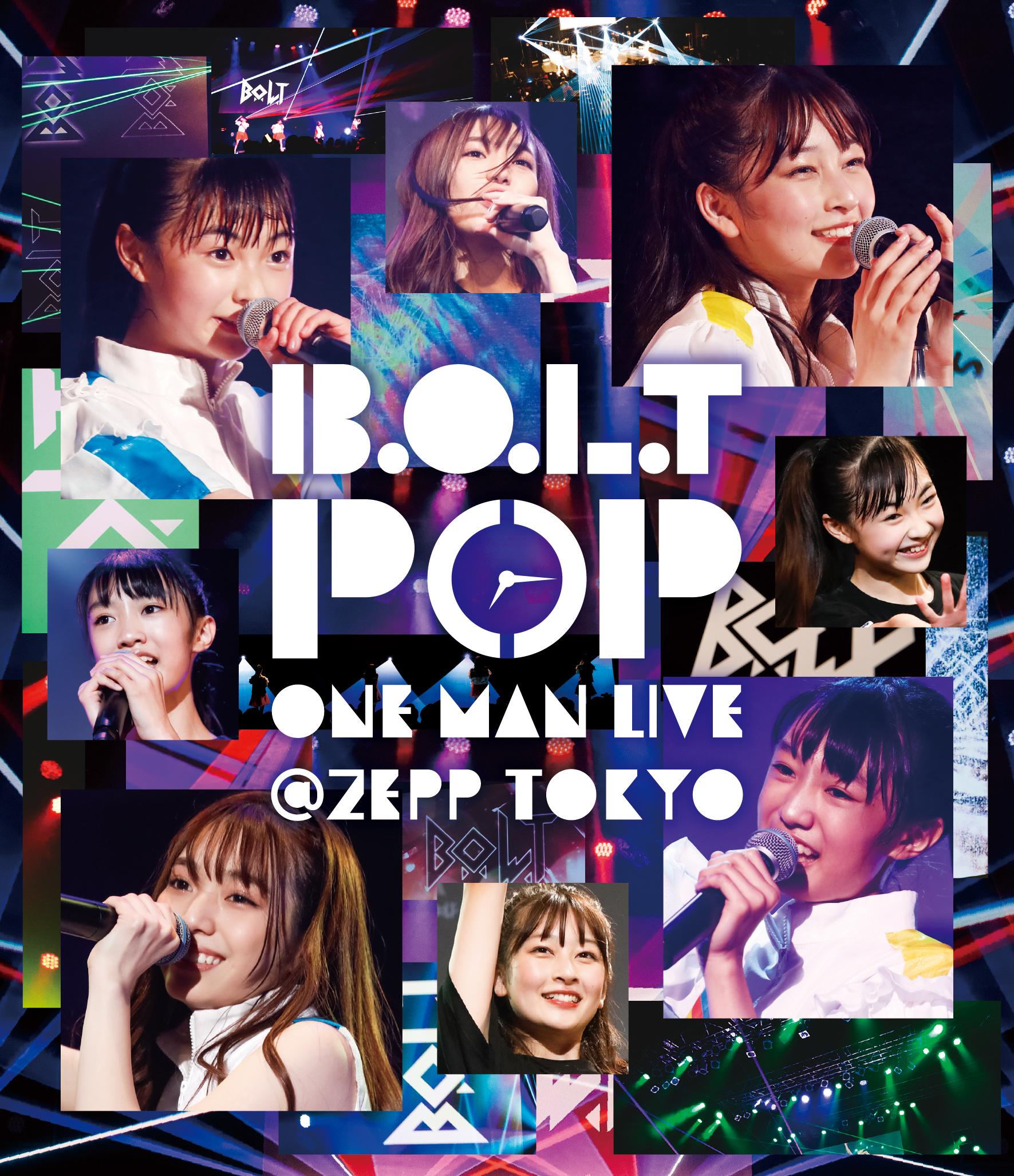 『B.O.L.T「POP」ONE MAN LIVE@Zepp Tokyo』Blu-rayジャケット