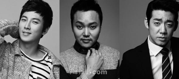 (写真左から)タクシー運転手チャン・トッペ役のパク・コニョン、キム・ミンギョ、キム・ドヒョン 写真提供:ASIA BRIDGE CONTENTS ©韓劇.com All rights reserved.