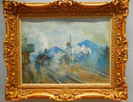 クロード・モネ《サン=ラザール駅の線路》1877年