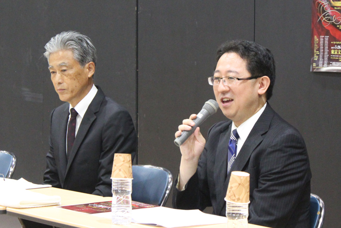 (左)丹波康雄、(右)山口 毅