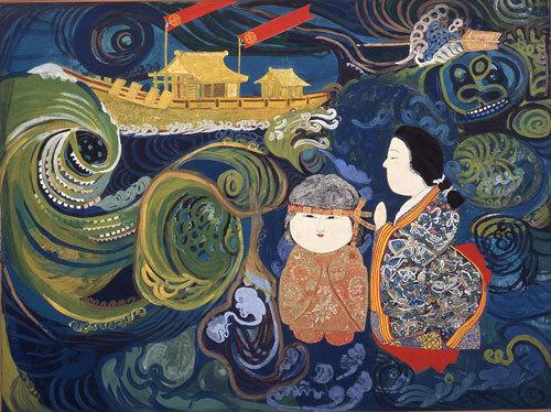 片岡球子《海(鳴門)》1962年_神奈川県立近代美術館