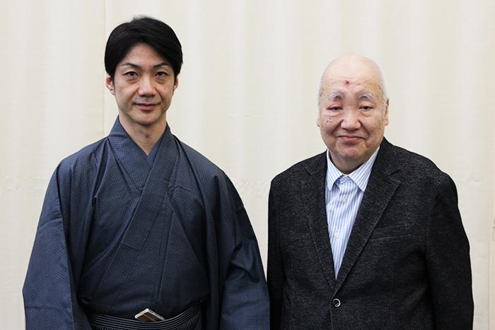 (左から)野村萬斎、梅若実玄祥