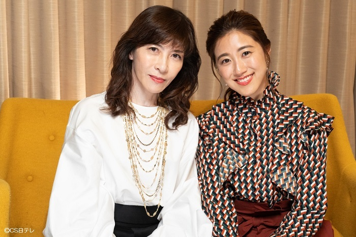 (左から)安寿ミラ、仙名彩世 (C)CS日テレ