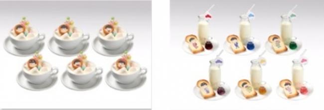 左から、・ゆめかわホットハニーミルク(6種)790円(税抜) 、6つ子の風呂上り牛乳 (全6種)590円(税抜)