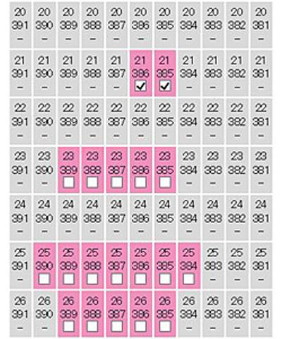 座席選択図